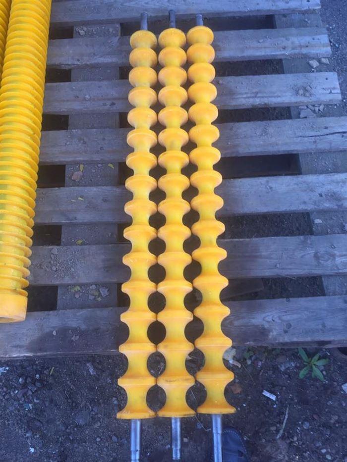 Спиральные вальцы из полиуретана